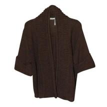 Classiques Entier XS Brown Kimono Cocoon Silk Blend Knit Sweater Cuffed ... - $25.64