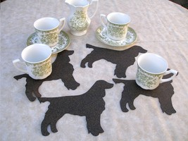 Large dog shaped coaster set of 4 ltd. ed., English springer spaniel fie... - $9.00