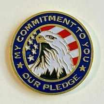 """U.S. Army National Guard """"My Commitment To You Pledge"""" Gold-tone Challenge Coin - $8.90"""