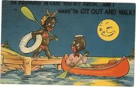 Postcard Black Americana 1930's I'm prepared in case. - $5.50