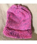 Handmade Pink Unisex Hand Knit Hat - $4.94