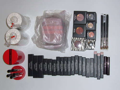 MAC COSMETICS 50 LOTS PCS EYE SHADOW LIP GLOSS BRUSH   MAC