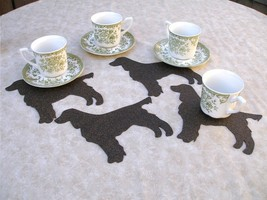 Field English springer spaniel coaster set of 4 ltd. ed., dog shaped, large - $9.00