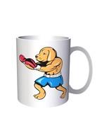 Dog Boxer Figure Novelty Vintage Art 11oz Mug n59 - $10.83