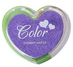 Set of 3 DIY Easy Paint Antique Sparkle Dazzle Pigment Inkpad, Purple