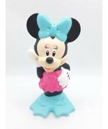 "2014 Disney Mattel Minnie Mouse Figure Pink Swim Suit 4"" Tube Plastic - $5.81"