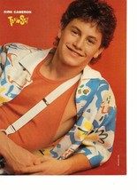 Kirk Cameron Tom Cruise teen magazine pinup clipping laying down suspenders