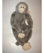 Fiesta Hanging Monkey Gray Grey Plush Stuffed A... - $8.99