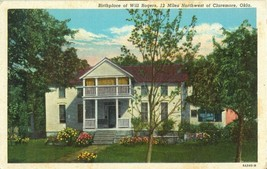 Birthplace of Will Rogers, Northwest of Claremore, Oklahoma 1950 used Postcard - $4.99