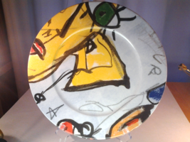"""Gollhammer Porcelain Gallery, Gustave 12.5"""" Abstract Serving Plate - $13.99"""