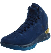 Under Armour UA Curry 1 Lux Mid Suede Marine/Metallise 1296617-997 - $149.00
