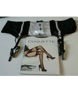 Shirley of Hollywood Black & White Tux Garter Belt & Stockings 3X Style ... - $15.79