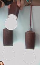 Improvements Set of 3 Fall Fiesta LED Hanging Pull Lights ,   Wood Tone - $18.80