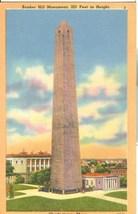 Bunker Hill Monument, Charlestown, Mass, unused linen Postcard  - $3.99