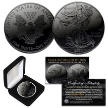 2019 BLACK RUTHENIUM 1 Troy Oz 999 Silver American Eagle Coin with Delux... - $43.90