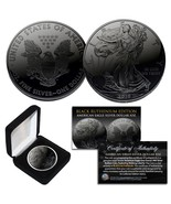 2019 BLACK RUTHENIUM 1 Troy Oz 999 Silver American Eagle Coin with Delux... - $823,37 MXN