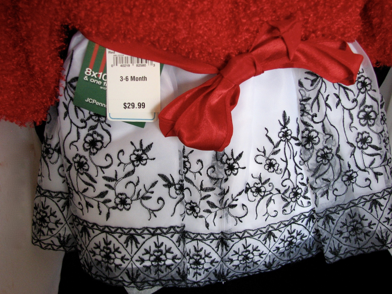 Baby Girl Dress and Jacket Party NWT Roses Red and Black 3 to 6 Months Bryan