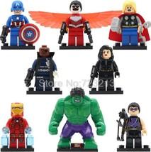 8pcs/set Marvel Minifigures Hulk Fury Hawkeye Thor Iron Man Black Widow Block - $12.49