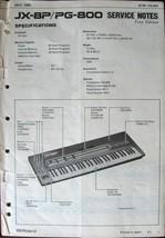 Roland JX-8P PG-800 Keyboard Synthesizer Original Service Manual, Schema... - $39.59