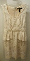 BCBG MaxAzria Cream Cocktail Sheath Fancy Dress - $35.00