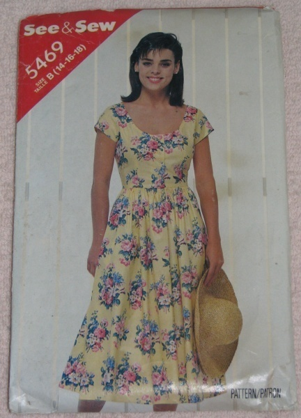 Butterick See & Sew 5469 Size B 14-16-18 Misses Dress  Butterick