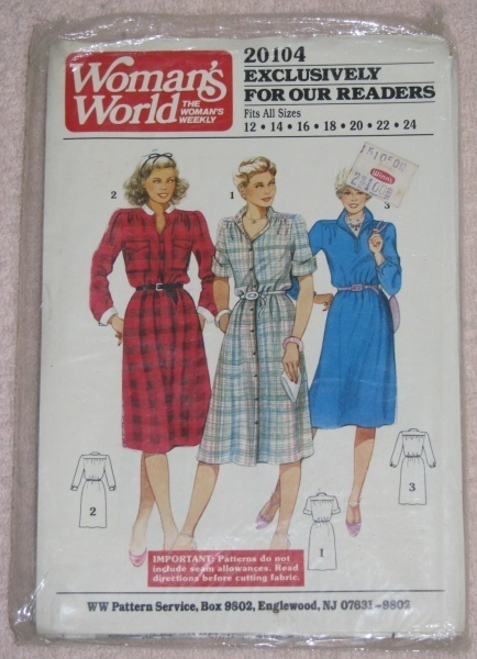 Womans World 20104 Dress Sewing Pattern Sz. 12 - 24  Other