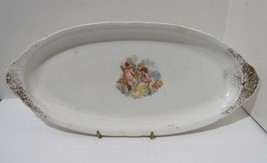 Antique Knowles Taylor Knowles K. T. & K. oval platter / tray with cupids - $38.00