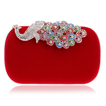 Luxury Crystal Evening Bag Clutch Diamond Party Purse Red Women Evening ... - $57.87