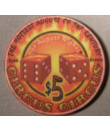 "$5.00 Casino Chip From: ""Circus Circus"" - Circa 1999 - (sku#2059) - $3.79"