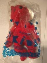 "Vintage Avon 1999 NIB Full O' Beans Cody The Bear 7"" Plush Red Stuffed T... - $13.29"