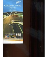 MAP of Oakland County North Michigan/City Series/Huge FOLDOUT/Rare - $14.85