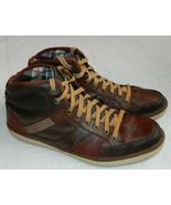 Skechers Sz 13 Sneakers Shoes Leather Brown Sorino Lozano Hi-Tops Relaxe... - $39.19