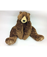 CIRCO STUFFED PLUSH FURRY FLOPPY CHOCOLATE BROWN TEDDY BEAR CORDUROY BIG... - $48.26