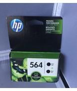 GENUINE HP 564 BLACK NOIR COMBO PACK INK CARTRIDGE C2P51FN EXP 04/2019 NEW - $14.95