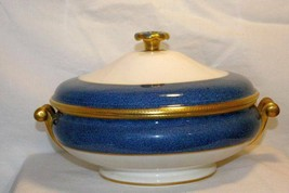 Wedgwood Stippled Blue Band  #6262 Covered Vegetable Bowl Ulander Swineburn - $413.02