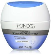 Pond's Crema S Nourishing Moisturizing Cream Travel Size 1.75 oz. Jar (P... - $19.47
