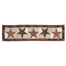 ABILENE STAR Hand-quilted Runner -13x48- Table/Dresser- Burgundy/Tan/Brown - VHC