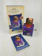 2005 Hallmark Pop Goes the Reindeer 3rd Jack-in-the-Box  Ornament Purple - $11.83