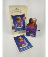 2005 Hallmark Pop Goes the Reindeer 3rd Jack-in-the-Box  Ornament Purple - $11.83