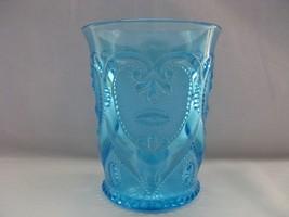 Antique Dugan Jeweled Heart Blue Tumbler - $18.00