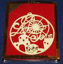 STUNNING LENOX 4TH IN SERIES SONGS OF CHRISTMAS O LITTLE TOWN ORNAMENT I... - $25.24