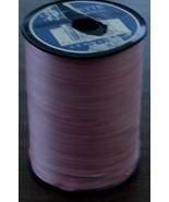 """Nice Large Roll of Ribbed Curling 3/16"""" Ribbon, VG CND Pastel Pink/Mauve... - $11.87"""