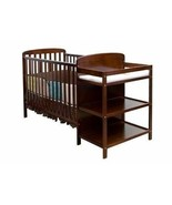 Espresso Full Size Convertible 2-in-1 Crib Bed Baby Toddler Nursery Fixe... - $217.70