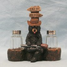 """Woodland Bear """"Put It Back There"""" Guarding His Salt and Pepper by DWK - $18.76"""