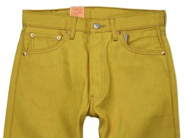 NEW LEVI'S 501 MEN'S ORIGINAL FIT STRAIGHT LEG JEANS BUTTON FLY YELLOW 501-1474 image 2