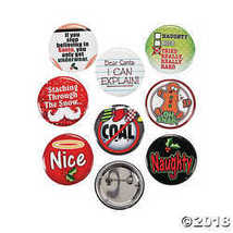 Funny Christmas Buttons - $7.74