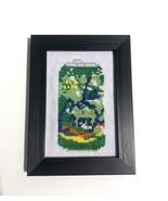 "Key Lime La Croix Framed Finished Cross Stitch 3.5"" x 5"" - £21.75 GBP"