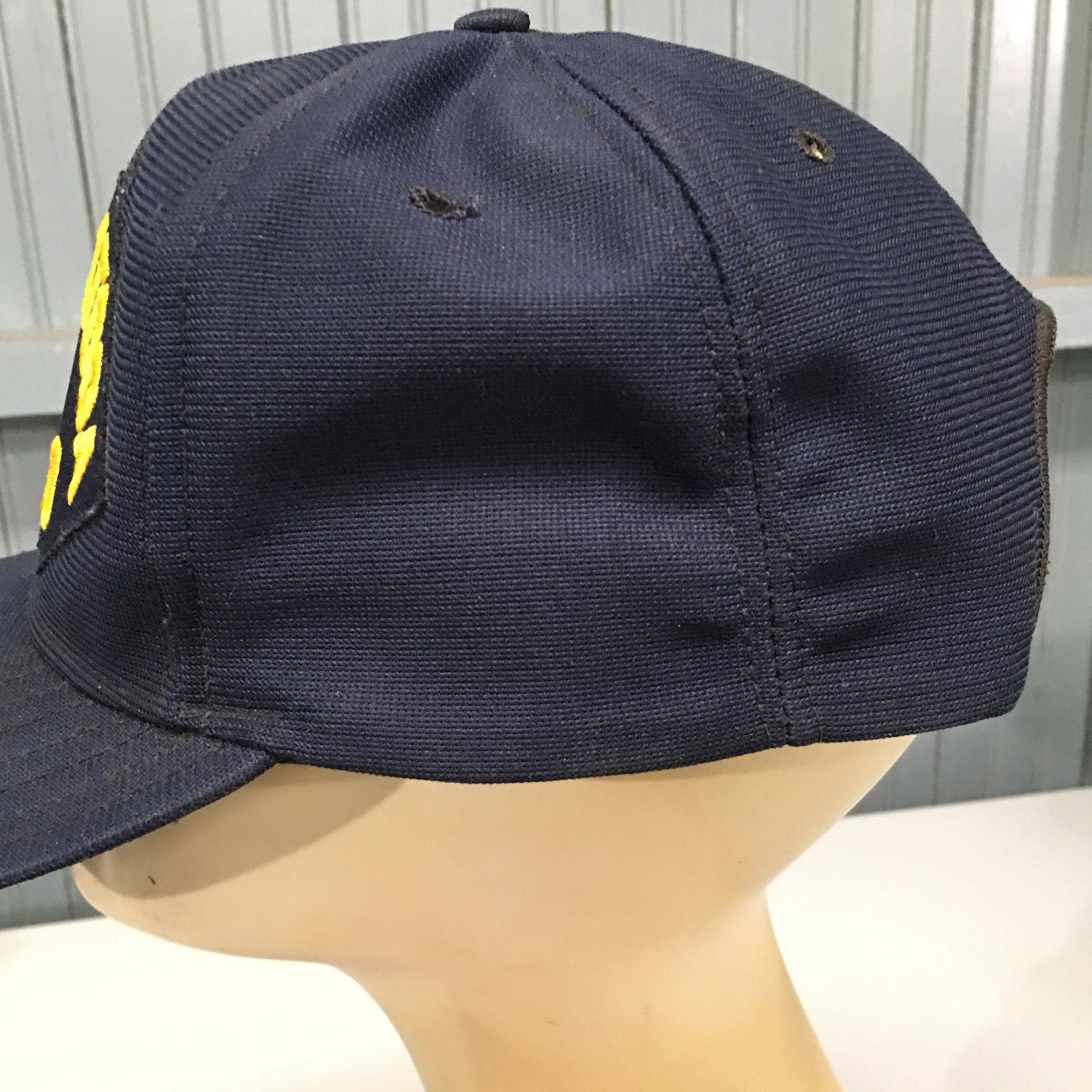 US Navy VTG USS Saratoga CV-60 Baseball Cap Hat Snapback Military Made in USA