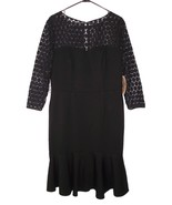 NWT Nue by Shani Dress 14 Ponte Knit Lace Sleeves LBD Stretch - $38.69