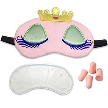 3D Cute Sleeping Princess Eye Mask with Reusable Gel Pad, Cold Hot SPA T... - $12.54
